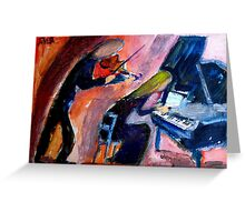 musical duo Greeting Card