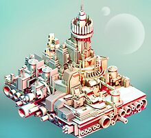 Muted City - Low Poly Landscape by Neil Stratford