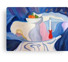 Still Life with candle. Canvas Print