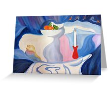 Still Life with candle. Greeting Card