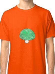 Lime Green Mushroom Shroom Fungus Classic T-Shirt