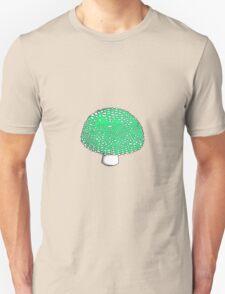 Lime Green Mushroom Shroom Fungus Unisex T-Shirt