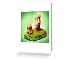 Monolithic Moai Easter Island Greeting Card