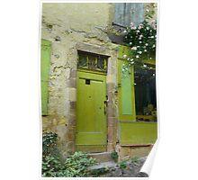 Green Door - Cordes-sur-Ciel, FRANCE Poster