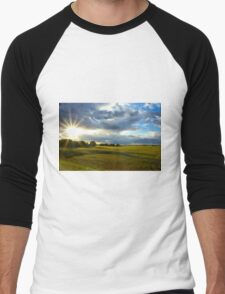 Fields of Light Men's Baseball ¾ T-Shirt