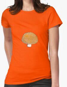 Orange Mushroom, Shroom, Fungus Womens Fitted T-Shirt