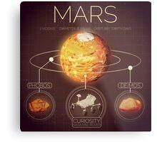 Planet Mars Infographic NASA Metal Print