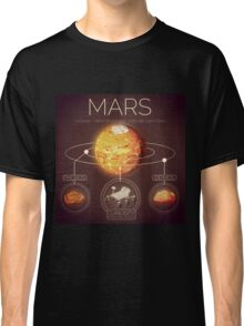 Planet Mars Infographic NASA Classic T-Shirt