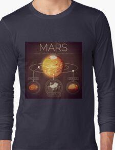 Planet Mars Infographic NASA Long Sleeve T-Shirt