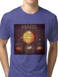 Planet Mars Infographic NASA Tri-blend T-Shirt