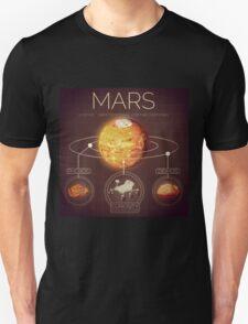 Planet Mars Infographic NASA T-Shirt