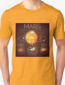 Planet Mars Infographic NASA Unisex T-Shirt