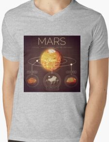 Planet Mars Infographic NASA Mens V-Neck T-Shirt