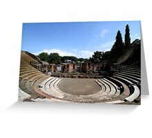 Large Theatre - Pompeii Greeting Card