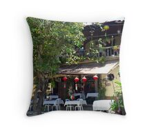 Hoi An cafe, central Vietnam. Throw Pillow