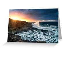 Break through-crowdy head-nsw mid north coast Greeting Card