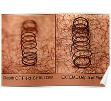 Depth of Field  SHALLOW &   EXTEME Depth of Field Poster
