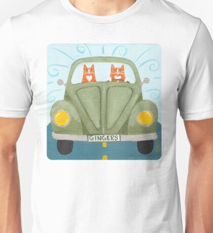 Ginger Cat Road Trip T-Shirt