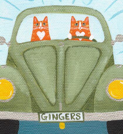 Ginger Cat Road Trip Sticker