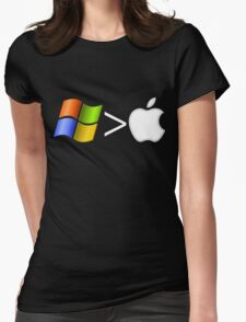 PC greater than Mac Womens Fitted T-Shirt