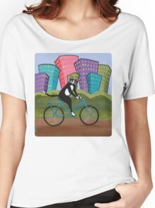 Bicycle Cat Women's Relaxed Fit T-Shirt