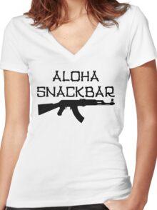 Aloha Snack Bar Women's Fitted V-Neck T-Shirt