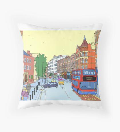 West Hampstead, London, UK Throw Pillow