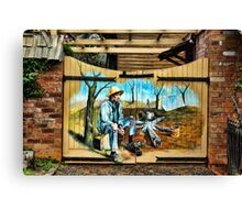 OLD HOUSE SHED DOORS Canvas Print
