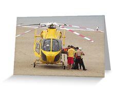 Air Ambulance - Skegness Beach Greeting Card