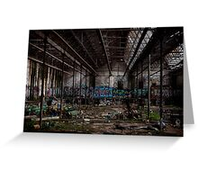 Rozelle Tram Depot - Overview Greeting Card