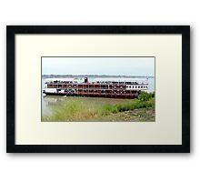 RV Pandaw moored on the Mekong River. Framed Print