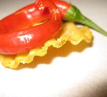 Red Chili on a Crinkle Cut Chip by StefanoB