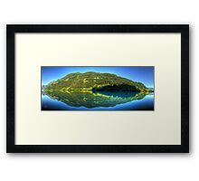 Lungerersee 24 shot HDR Panorama Framed Print