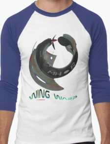 Boomerang Fighter Wing Warp T-shirt Design Men's Baseball ¾ T-Shirt