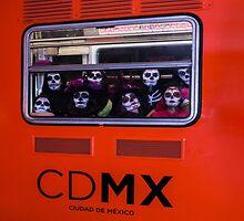 La Catrina Viaja en Metro CDMX 2151 by JJavierMC