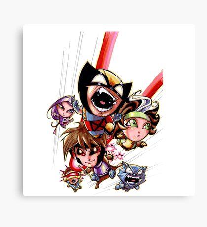 Superhero cute Canvas Print