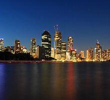 Brisbane City at Blue Hour  by Tim Harper