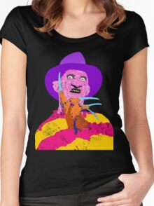 Freddy Kruger- Horror Lisa Frank Style! Women's Fitted Scoop T-Shirt