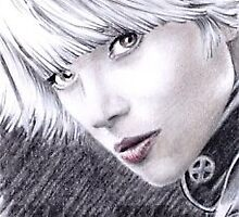 Halle Berry as Storm mini-portrait by wu-wei