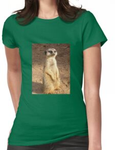 Meerly looking my very best for the camera . Womens Fitted T-Shirt