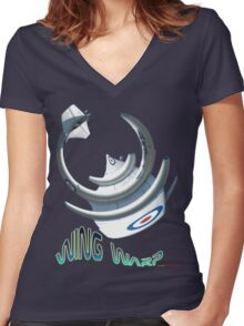 Gloster Meteor F8 Wing Warp T-shirt Design Women's Fitted V-Neck T-Shirt