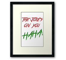 The jokes phone Framed Print