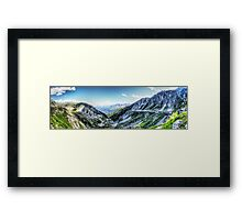 Gotthard Elbows Revisted - The HDR Panorama Framed Print