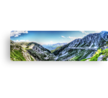 Gotthard Elbows Revisted - The HDR Panorama Canvas Print