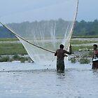 Fishing in the river. by debjyotinayak