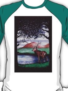 Out of the Forest I `Red Stag' T-Shirt