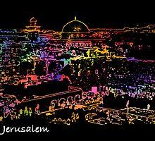 Jerusalem by night by dominiquelandau