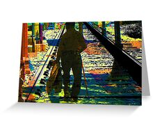 Walking the Tracks Greeting Card