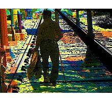 Walking the Tracks Photographic Print