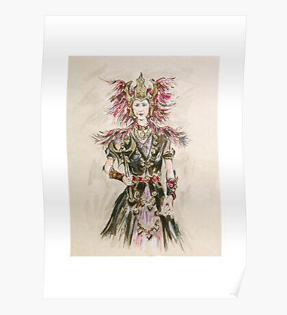 Warrior Princess or Princesa Guerrera Poster